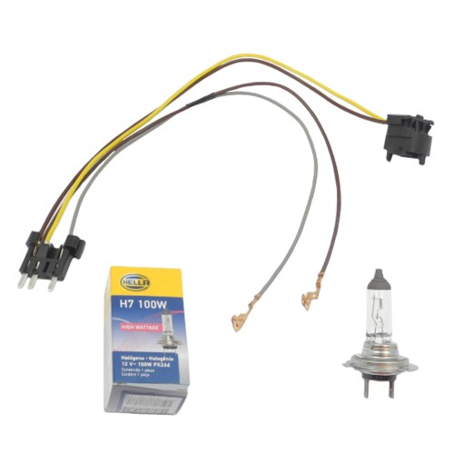 small resolution of details about left right headlight wiring harness h7 100w headlight bulb for benz e500 e55