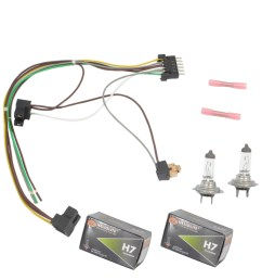 for benz s430 s500 left right headlight wiring harness h7 55w headlight bulb [ 1900 x 1900 Pixel ]