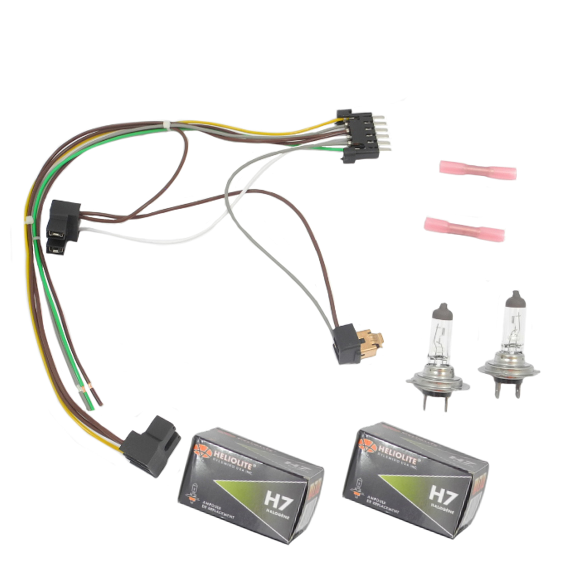 hight resolution of for benz s430 s500 left right headlight wiring harness h7 55w headlight bulb