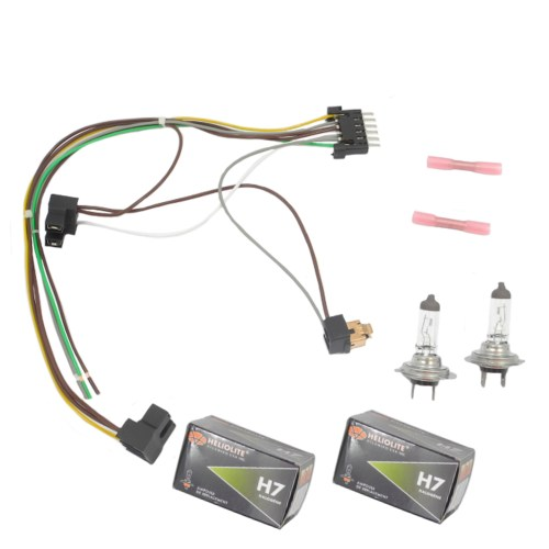 small resolution of for benz s430 s500 left right headlight wiring harness h7 55w headlight bulb