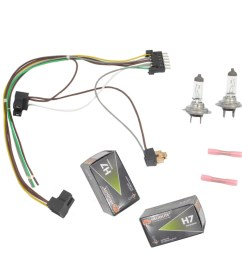 for s430 s500 benz left right headlight wiring harness h7 55w mercedes w220 headlight wiring harness connector kit fits to h7 bulbs [ 1900 x 1900 Pixel ]