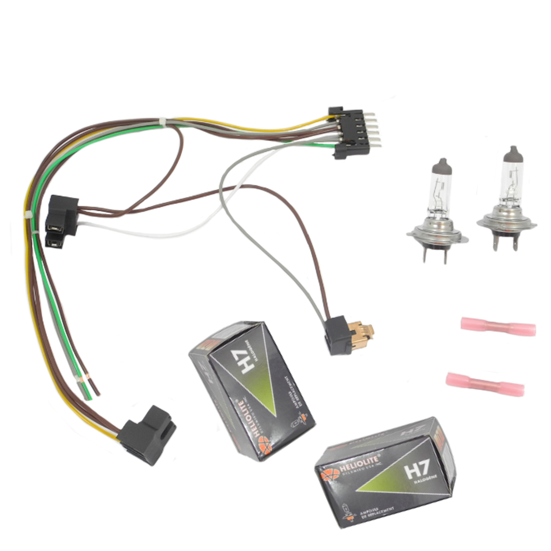 hight resolution of for s430 s500 benz left right headlight wiring harness h7 55w mercedes w220 headlight wiring harness connector kit fits to h7 bulbs