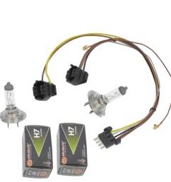 for benz ml320 ml350 left right headlight wiring harness headlight bulb h7 55w [ 1900 x 1900 Pixel ]