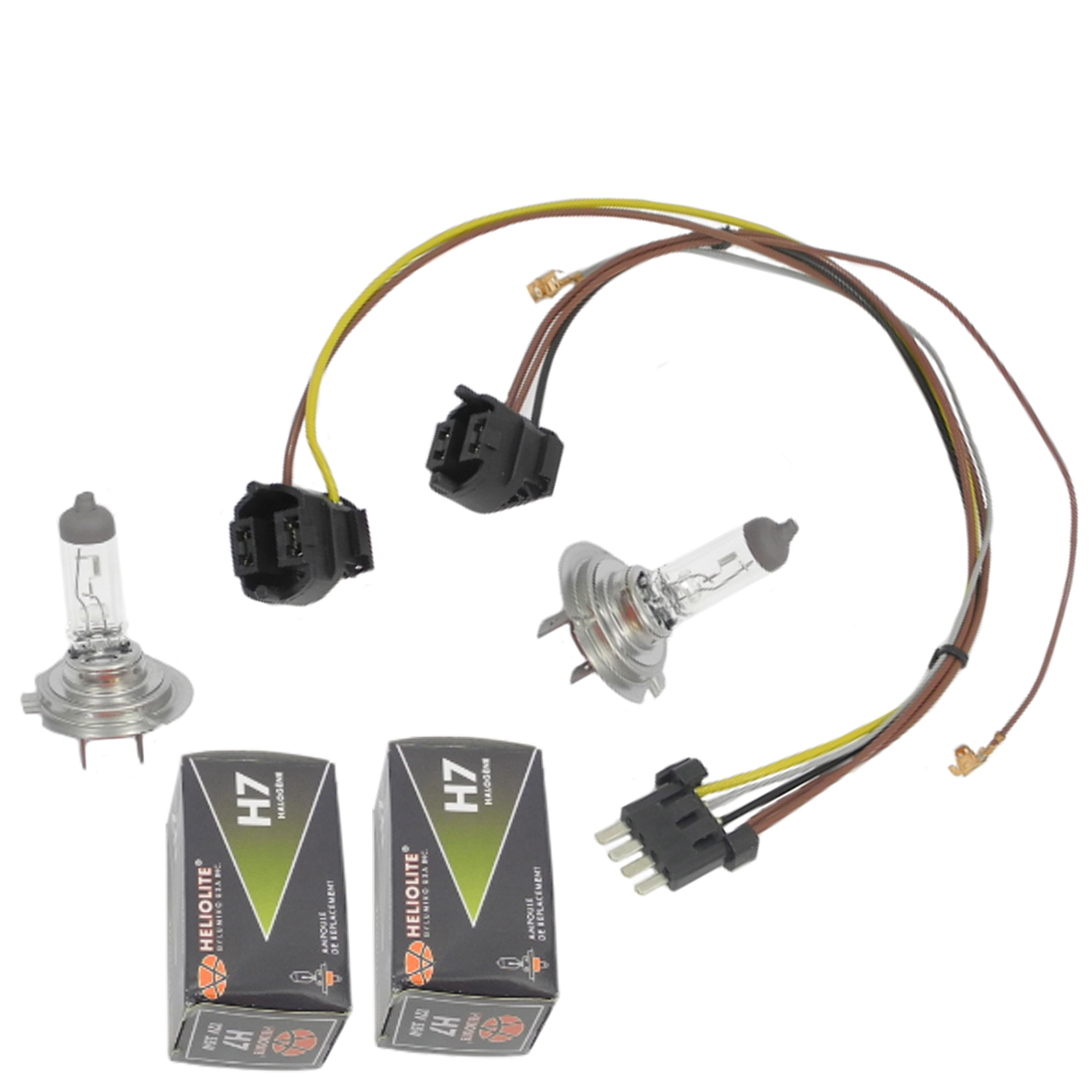 hight resolution of for benz ml320 ml350 left right headlight wiring harness headlight bulb h7 55w