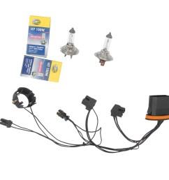 for benz c230 c250 left right headlight wiring harness headlight bulb h7 100w [ 1900 x 1900 Pixel ]