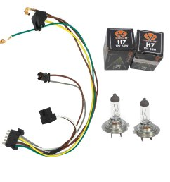details about for c230 c320 benz headlight wiring harness u0026 headlight bulb h7 55w left [ 1900 x 1900 Pixel ]