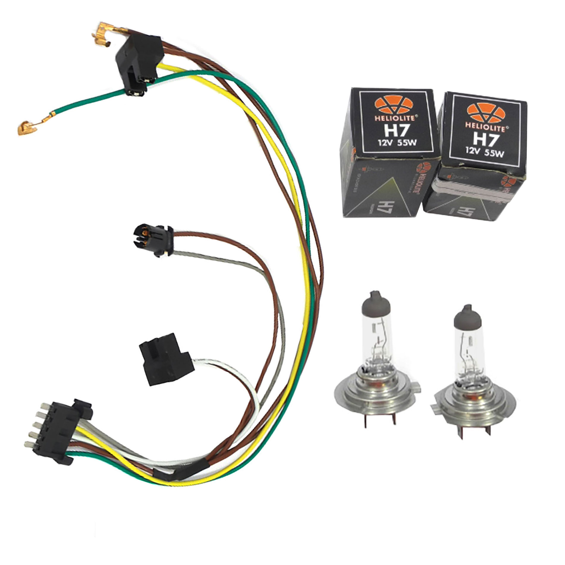 hight resolution of details about for c230 c320 benz headlight wiring harness u0026 headlight bulb h7 55w left