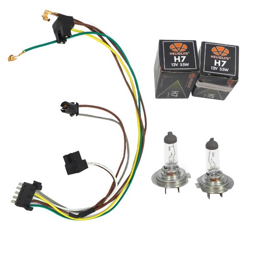 small resolution of details about for c230 c320 benz headlight wiring harness u0026 headlight bulb h7 55w left
