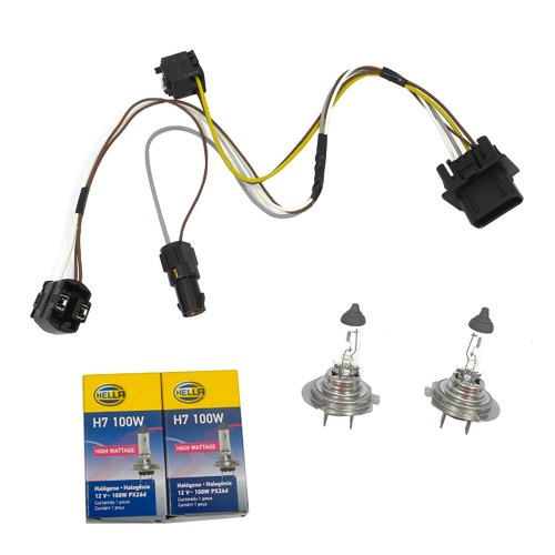 small resolution of details about for benz e430 e500 e55 l r headlight wiring harness and h7 100w headlight bulb