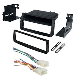 toyota corolla single din car stereo radio install dash mount kit radio wiring harness kits [ 1600 x 1600 Pixel ]