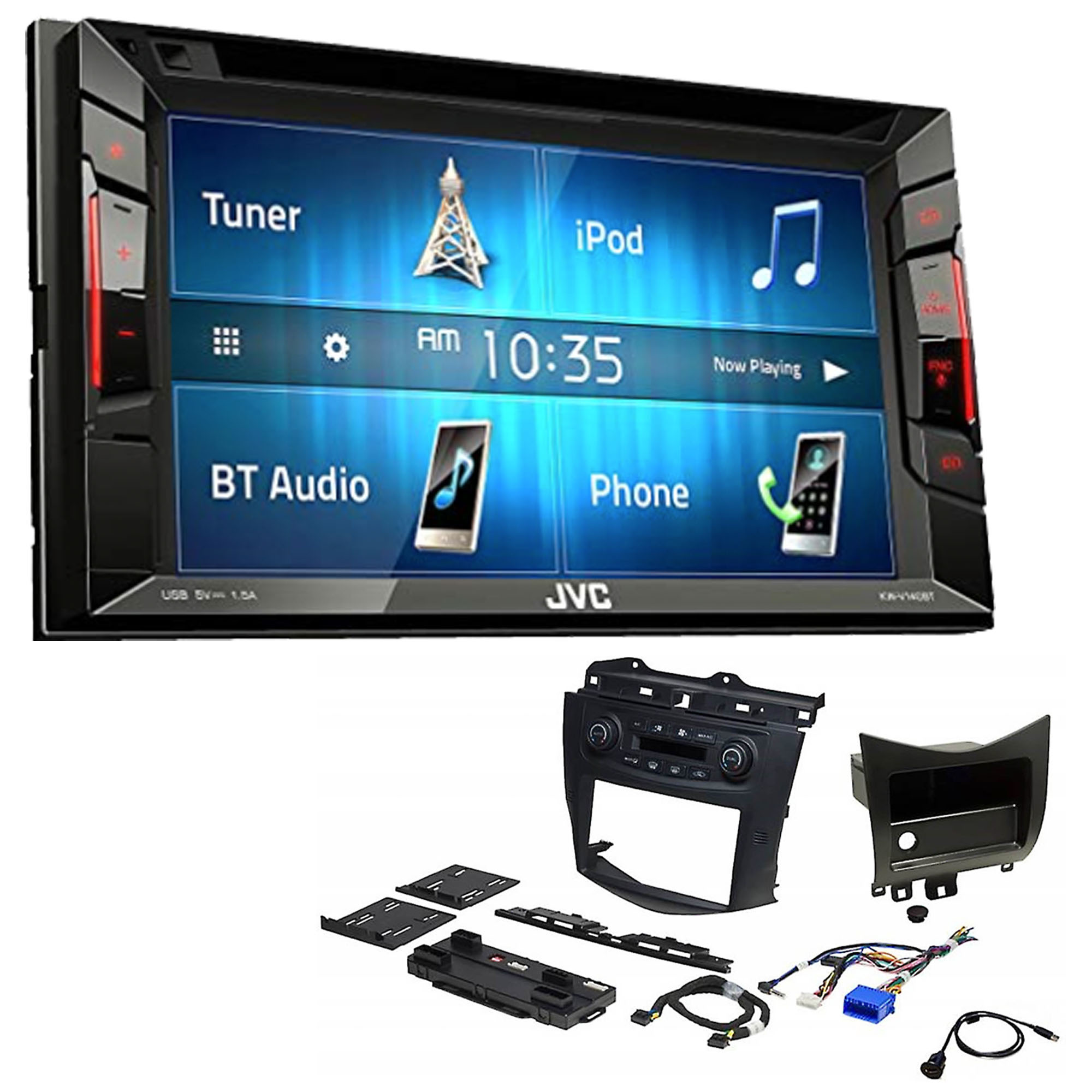 hight resolution of jvc double 2 din car stereo with complete installation dash kit dvd in dash wiring diagram