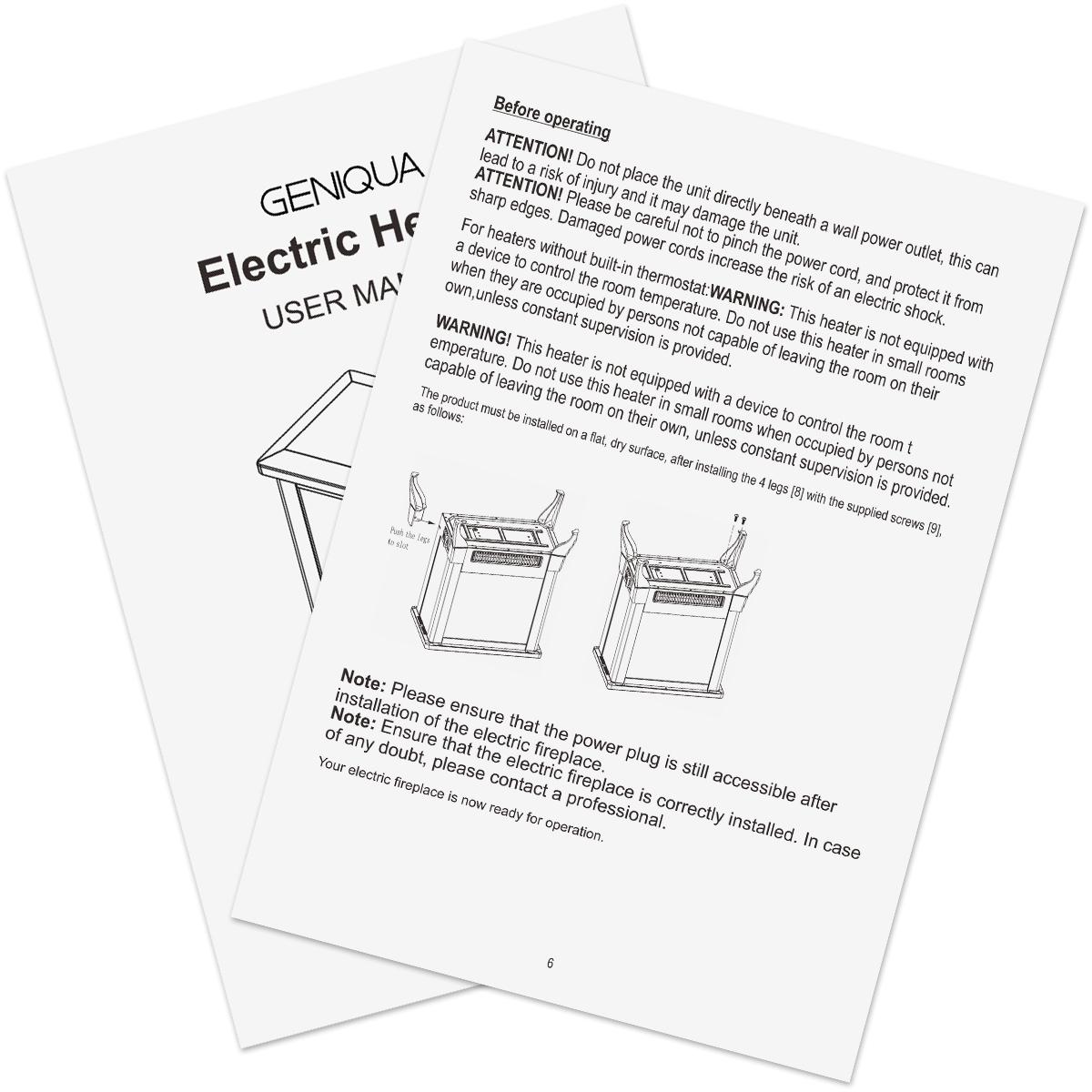 14 Electric Fireplace Heater Freestanding Log Wood Fire