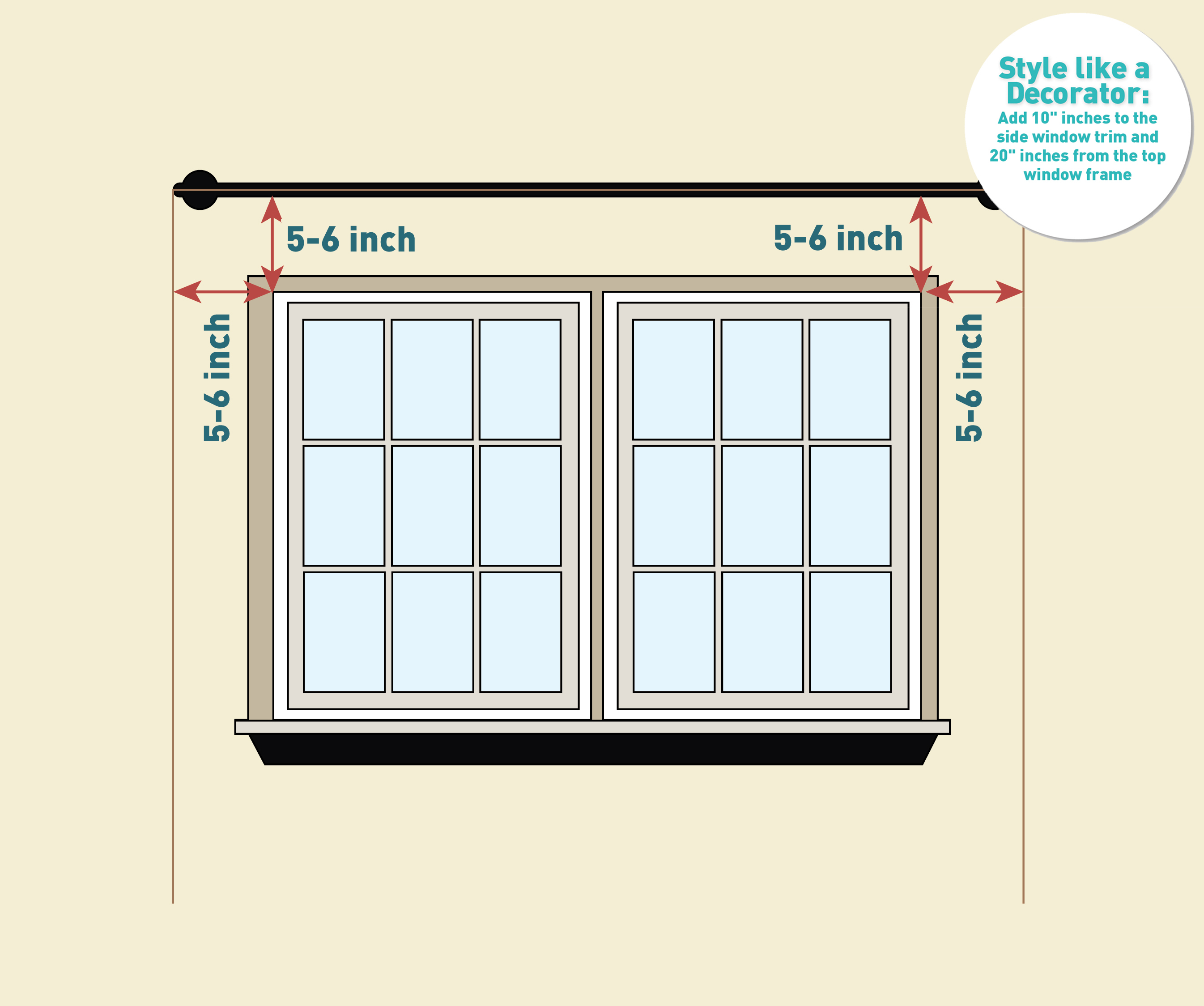 how to measure for curtains and drapes