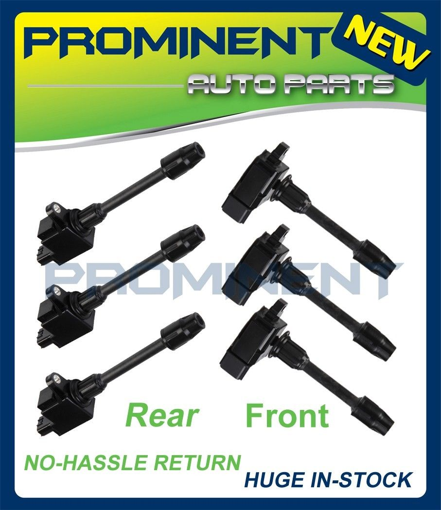 hight resolution of details about full set ignition coil for 00 01 infiniti i30 nissan maxima v6 3 0l uf348 uf363