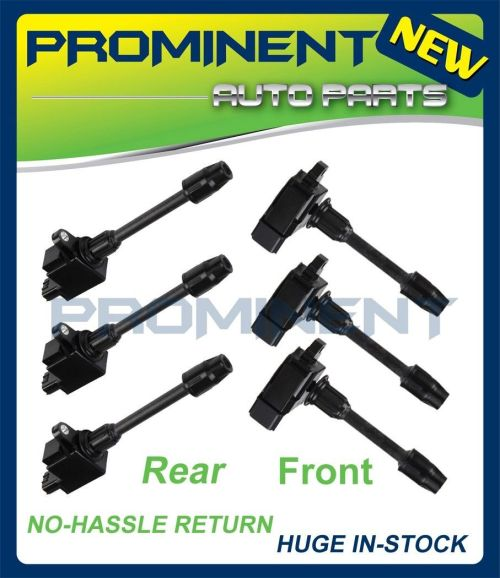 small resolution of details about full set ignition coil for 00 01 infiniti i30 nissan maxima v6 3 0l uf348 uf363