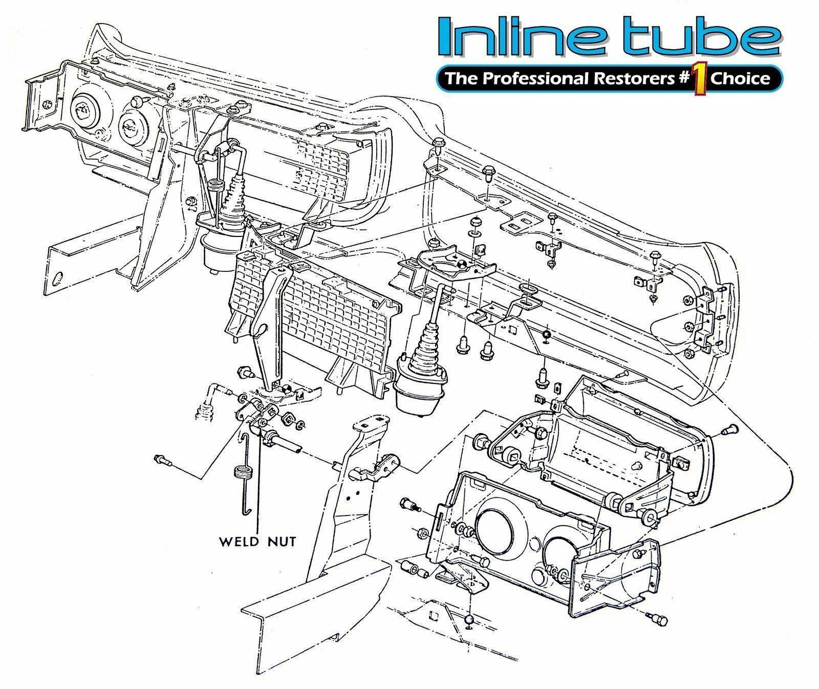 68 69 GTO Judge Ram Air Hide a Way Headlight Hose Set Kit