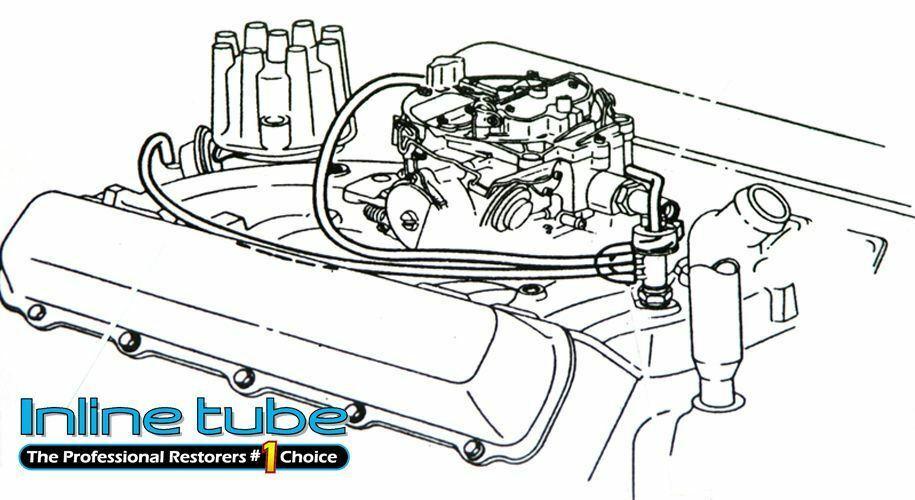 1971-72 Cutlass 442 W-30 Engine Vacuum Hoses Colors 4