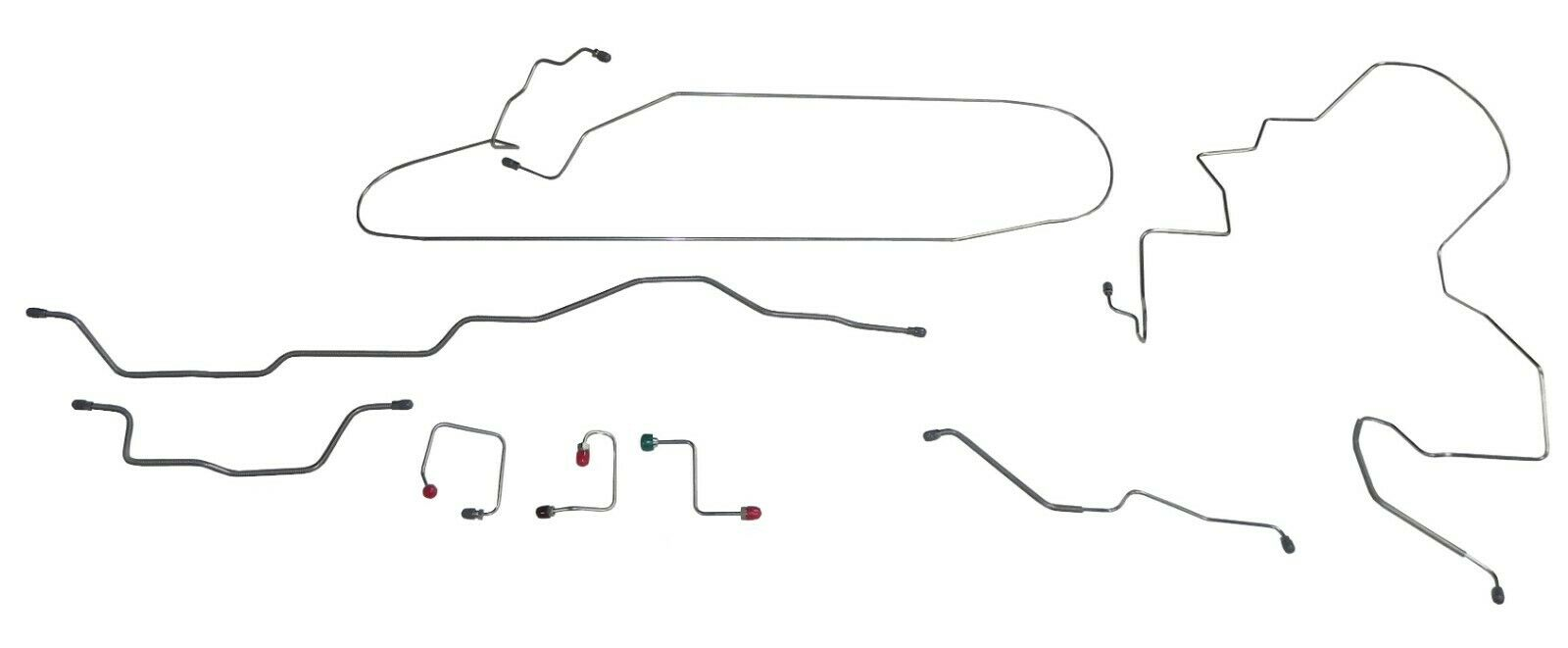 Fits 1995-01 Jeep XJ Cherokee No ABS Complete Brake Line