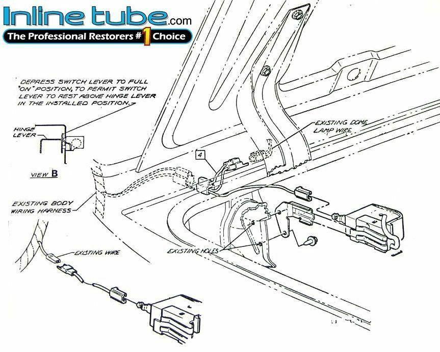 69-72 Pontiac GTO Judge Trunk Luggage Compartment Light
