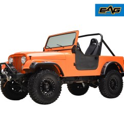 59 86 jeep wrangler cj5 cj6 cj7 matte black pocket rivet fender wide body [ 1500 x 1500 Pixel ]