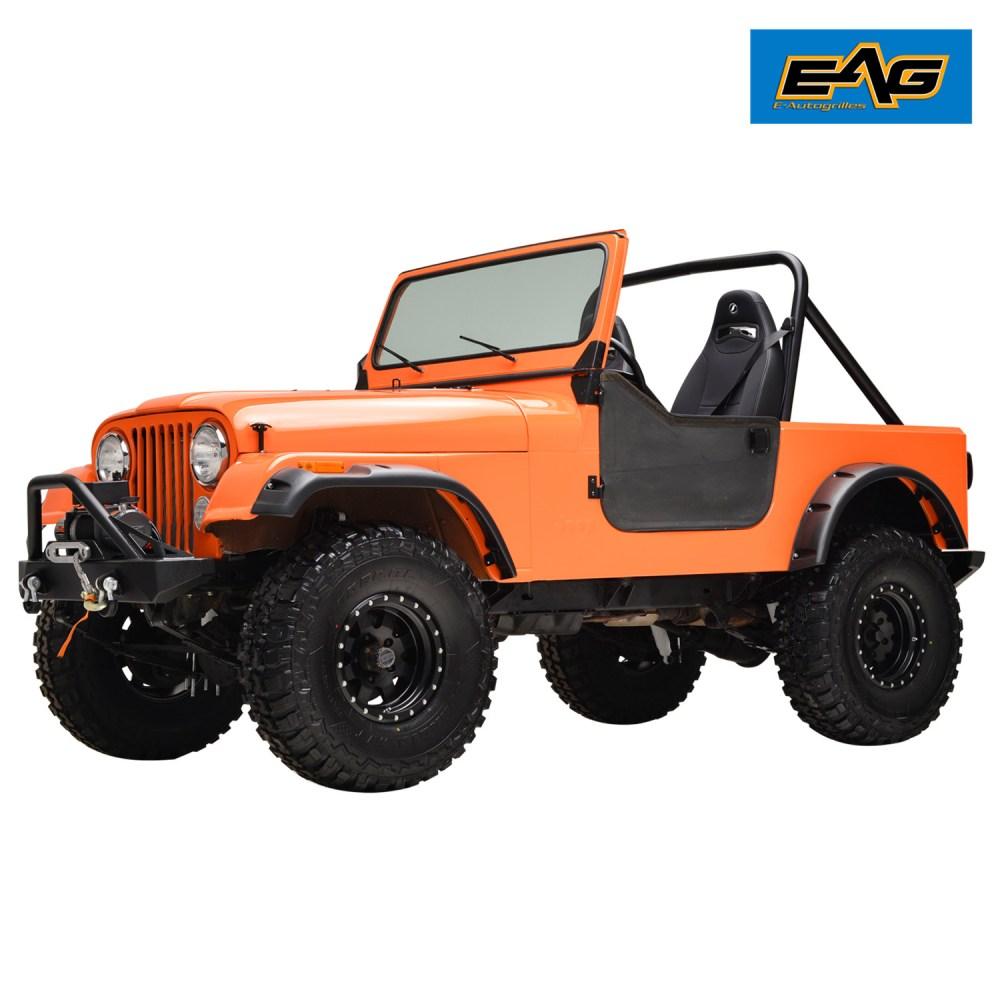 medium resolution of 59 86 jeep wrangler cj5 cj6 cj7 matte black pocket rivet fender wide body