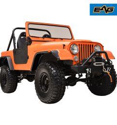 59 86 jeep wrangler cj5 cj6 cj7 matte black flat style fender wide body [ 1500 x 1500 Pixel ]