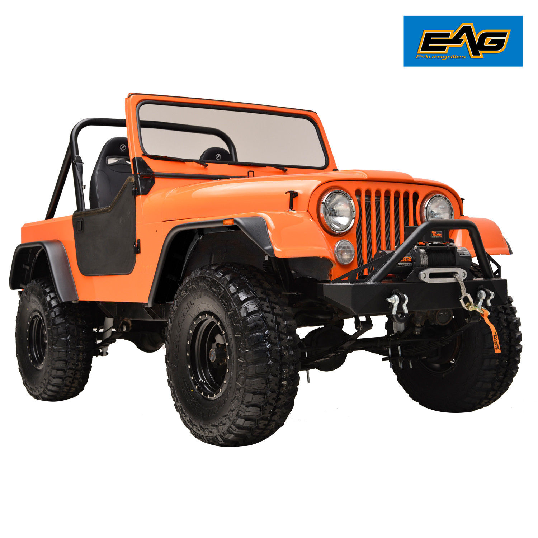 hight resolution of 59 86 jeep wrangler cj5 cj6 cj7 matte black flat style fender wide body