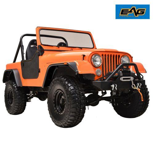 small resolution of 59 86 jeep wrangler cj5 cj6 cj7 matte black flat style fender wide body