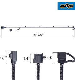 67 trailer hitch wiring harness kit for 07 18 jeep wrangler jk 1pc  [ 1500 x 1500 Pixel ]