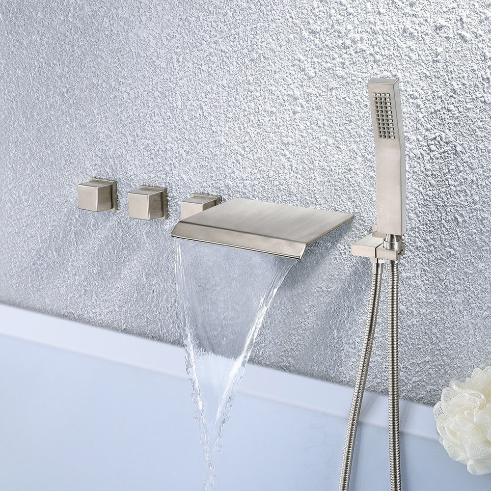 wall mount bathtub faucet with shower