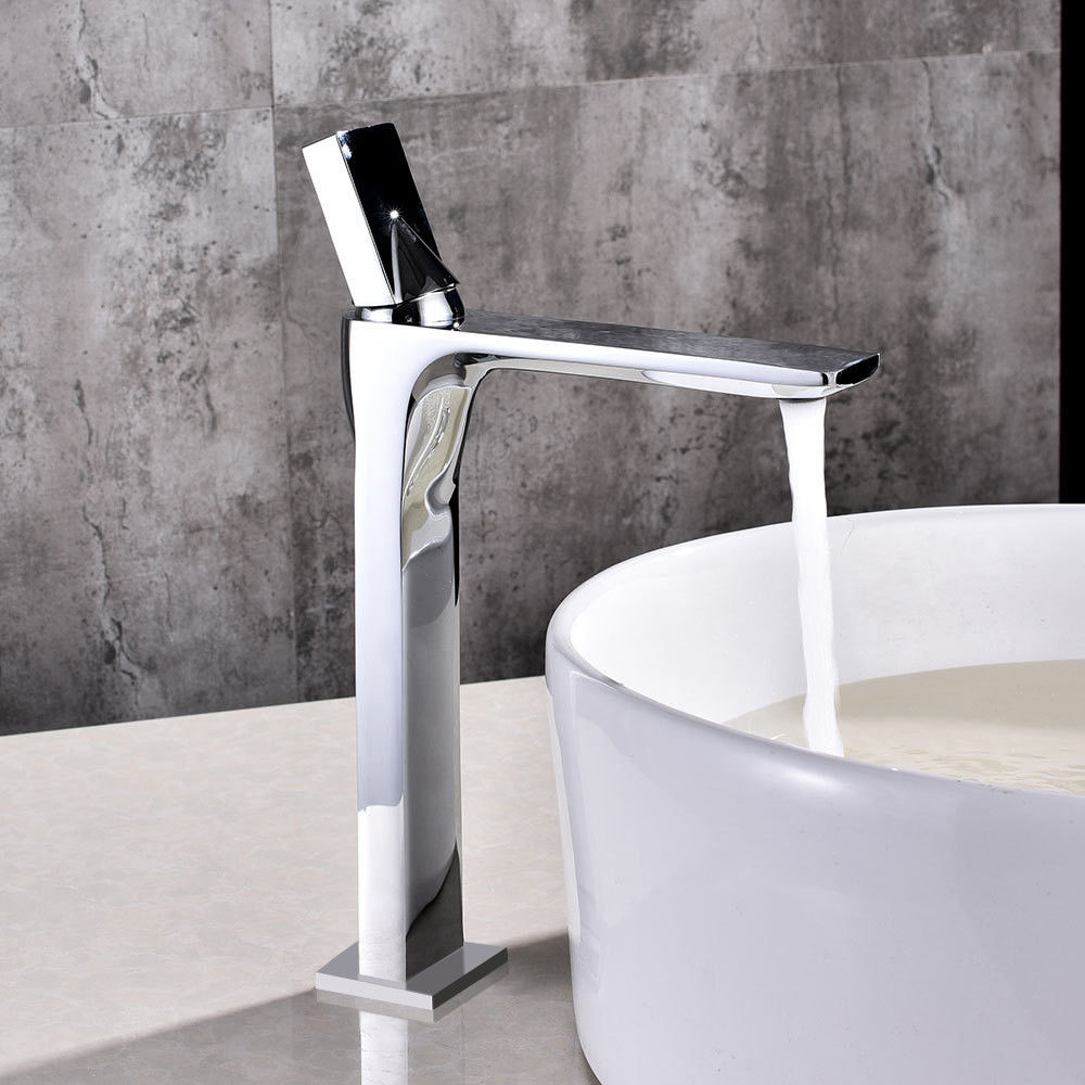 Modern Faucets For Bathroom Sinks Details About Modern Design Tall Single Hole Vessel Sink Faucet One Handle Bathroom Basin Tap