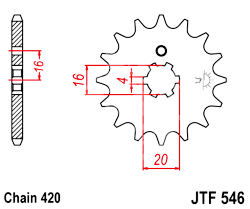 420 JT Sprockets and Drive Chain Kit for Kawasaki KX 60
