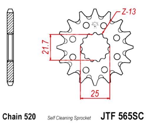 520 JT Sprockets and Drive Chain Kit for Yamaha YFM 660R