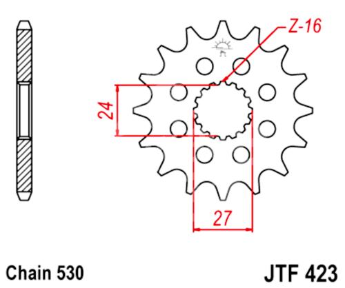 530 JT Sprockets & Chain Kit Suzuki GSXR 1300 Hayabusa