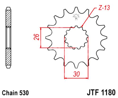 530 JT Sprockets & Chain Kit Triumph 1050 Speed Triple S
