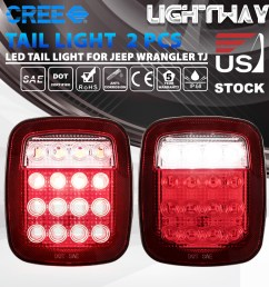details about led tail lights rear brake lamps turn stop reverse for jeep wrangler tj cj 76 06 [ 1000 x 1000 Pixel ]