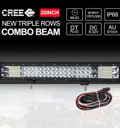 combo headlight and driving light wiring upgrade kit 170 wiring 20 inch cree led light bar [ 1001 x 1001 Pixel ]