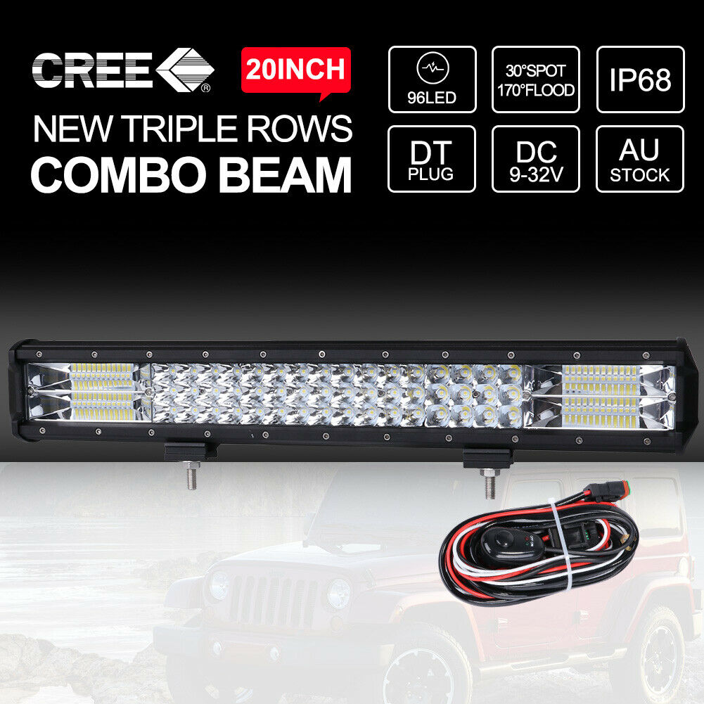 hight resolution of combo headlight and driving light wiring upgrade kit 170 wiring 20 inch cree led light bar