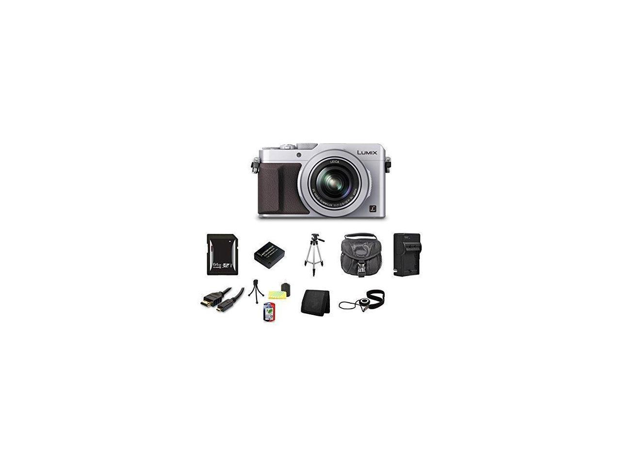 Panasonic LUMIX DMC-LX100 Digital Camera (Silver) Bundle 7