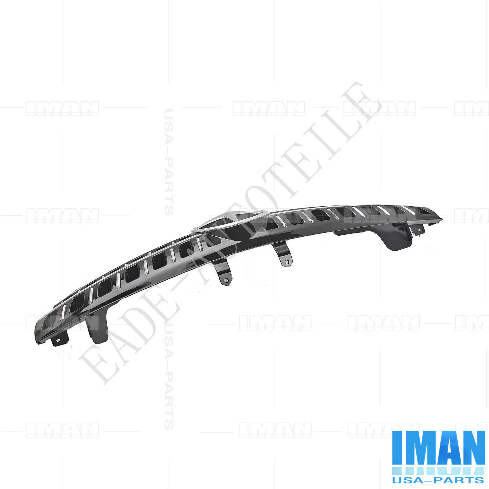 3 Fin Front Hood Black Chrome Grill Grille for Mercedes