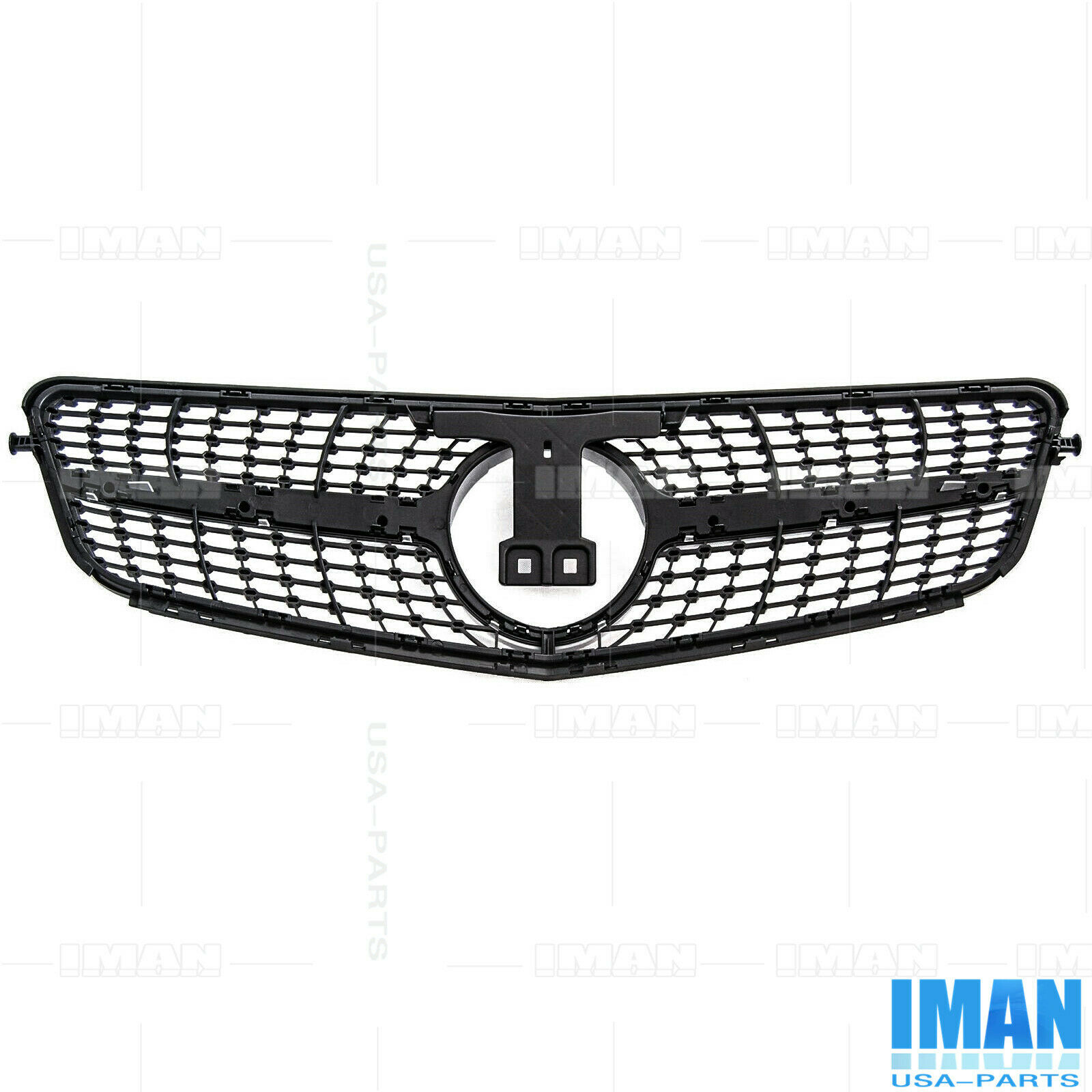 Silver Diamond Front Grille Grill For Mercedes W204 C200