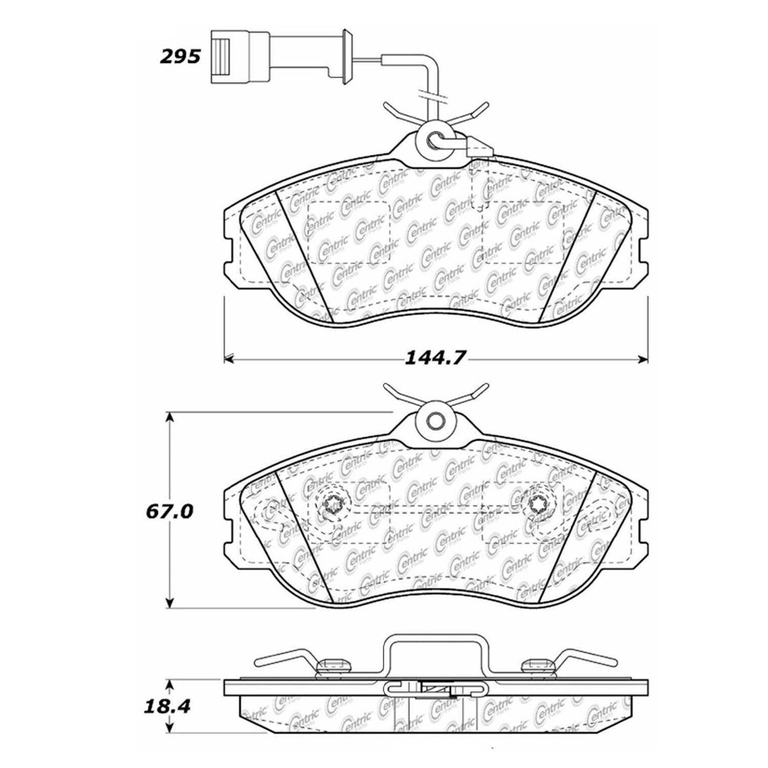 Centric Parts Brake Pads Front Rear For 1990-1991 Audi