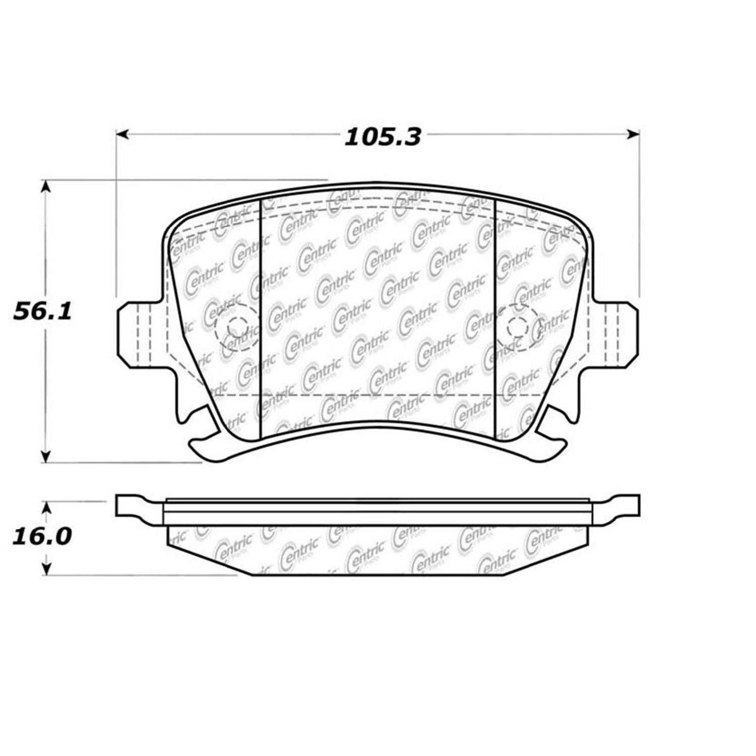 Centric Parts Brake Pads Front Rear For 2003-2004,2006