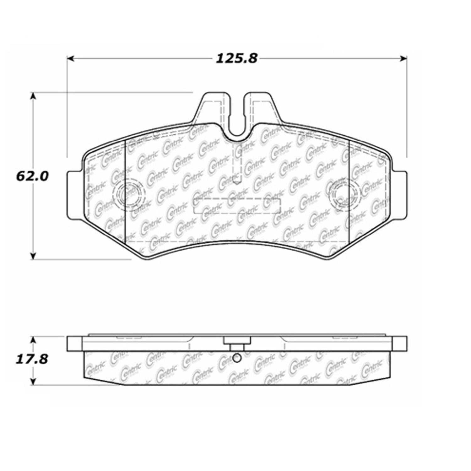 Centric Parts Brake Pads Front Rear For 2003-2004 Mercedes