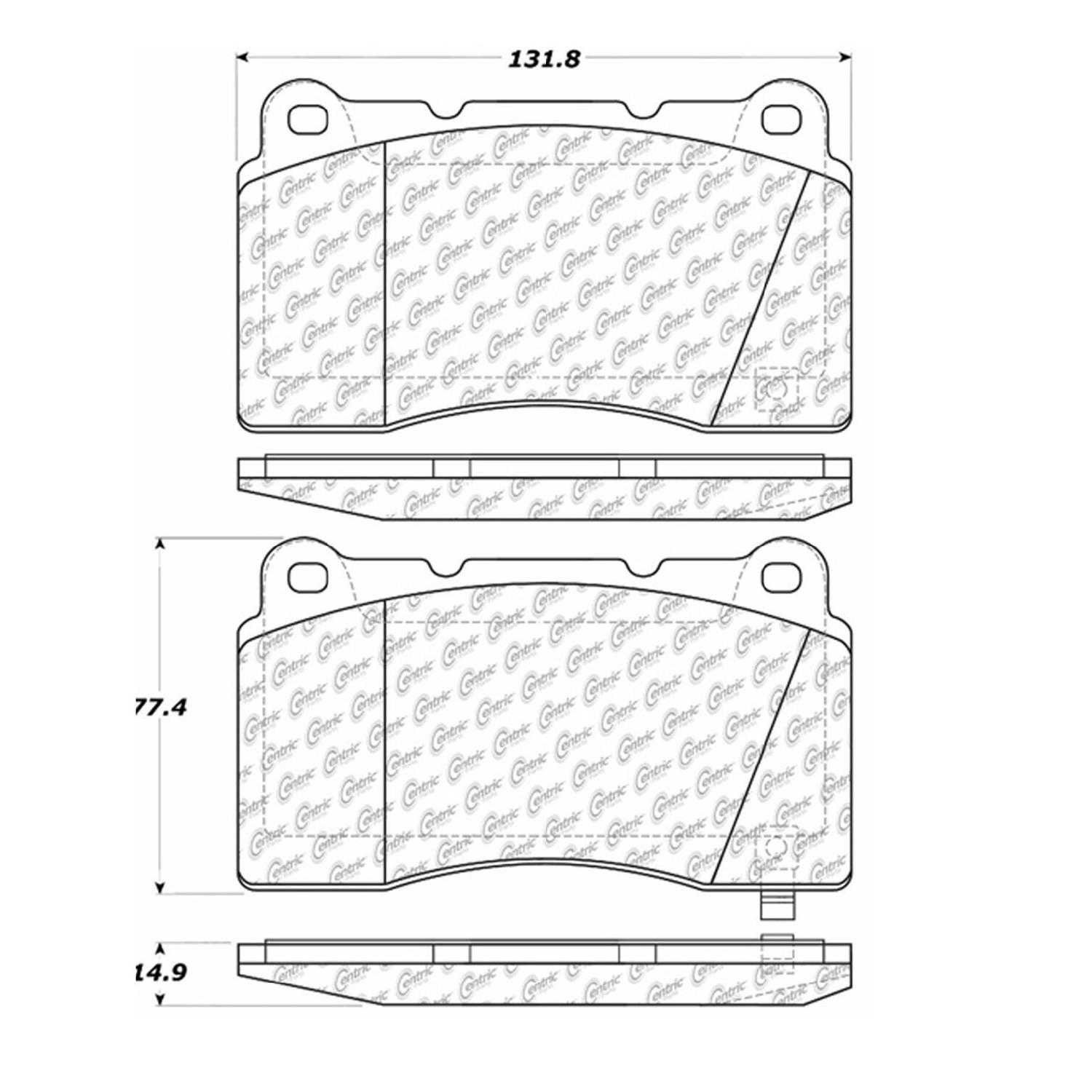 Centric Parts Brake Pads Front Rear For 2010 Hyundai