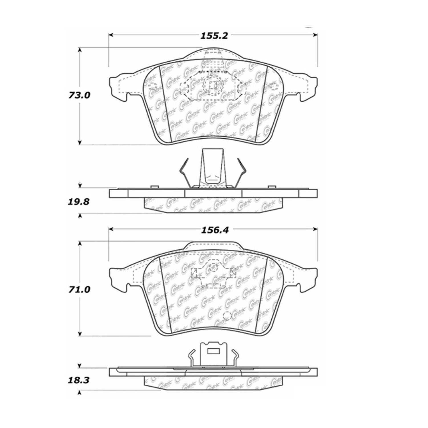For Centric Parts Brake Pads Front Rear 2006 Volvo XC90 V8