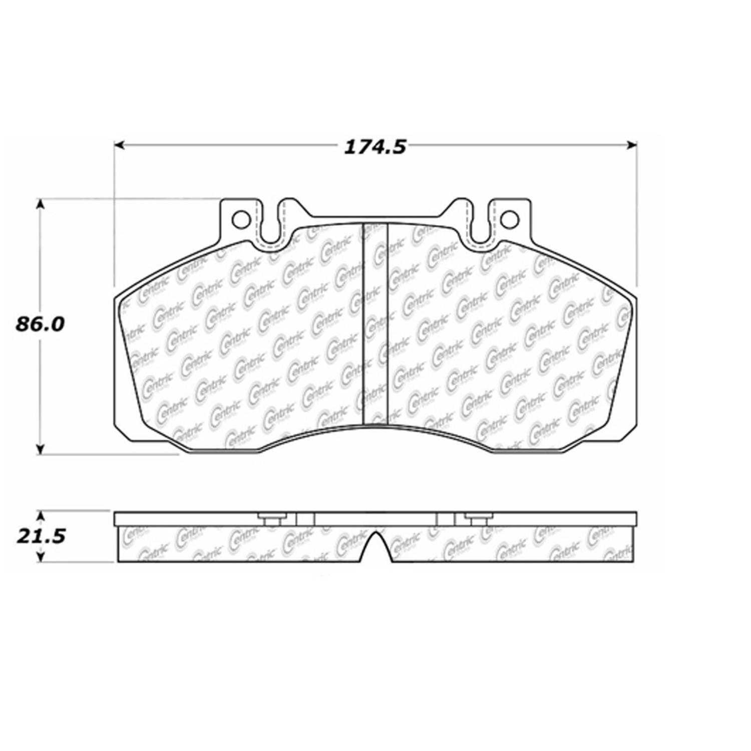 Centric Parts Brake Pads Front Rear For 2006-2011