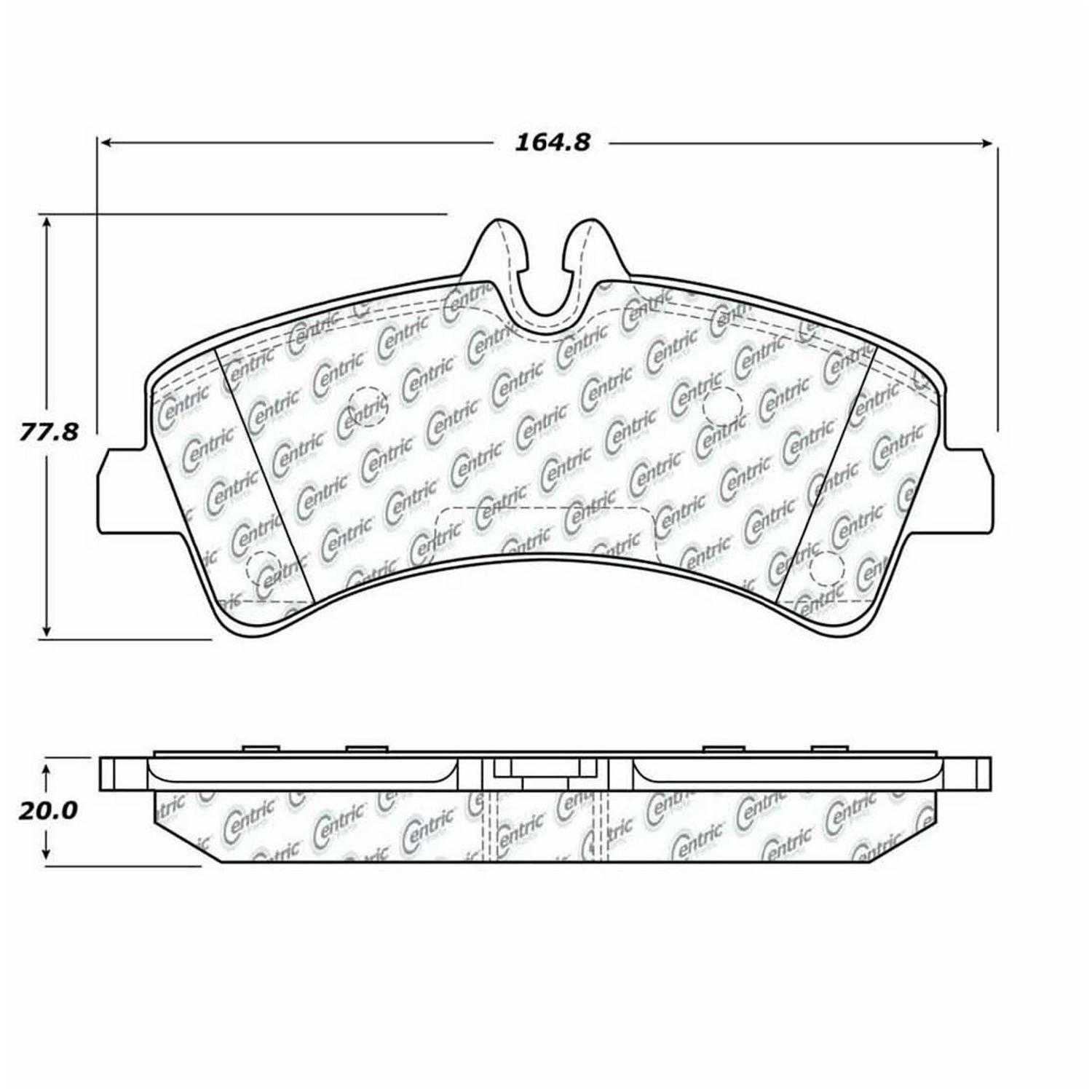 Centric Parts Brake Pads Front Rear For 07-16 Freightliner