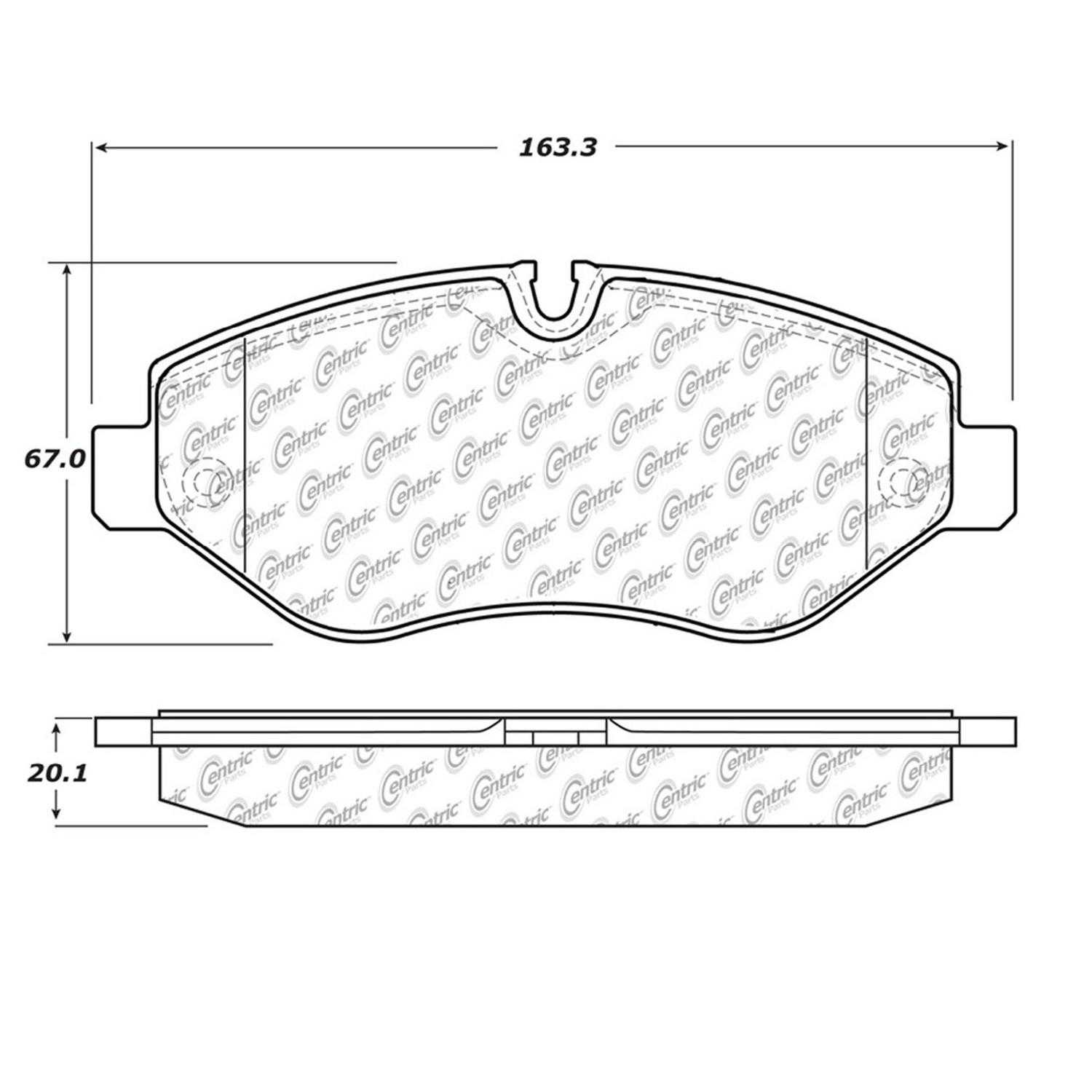 Centric Parts Brake Pads Front Rear For 2007-2009 Dodge