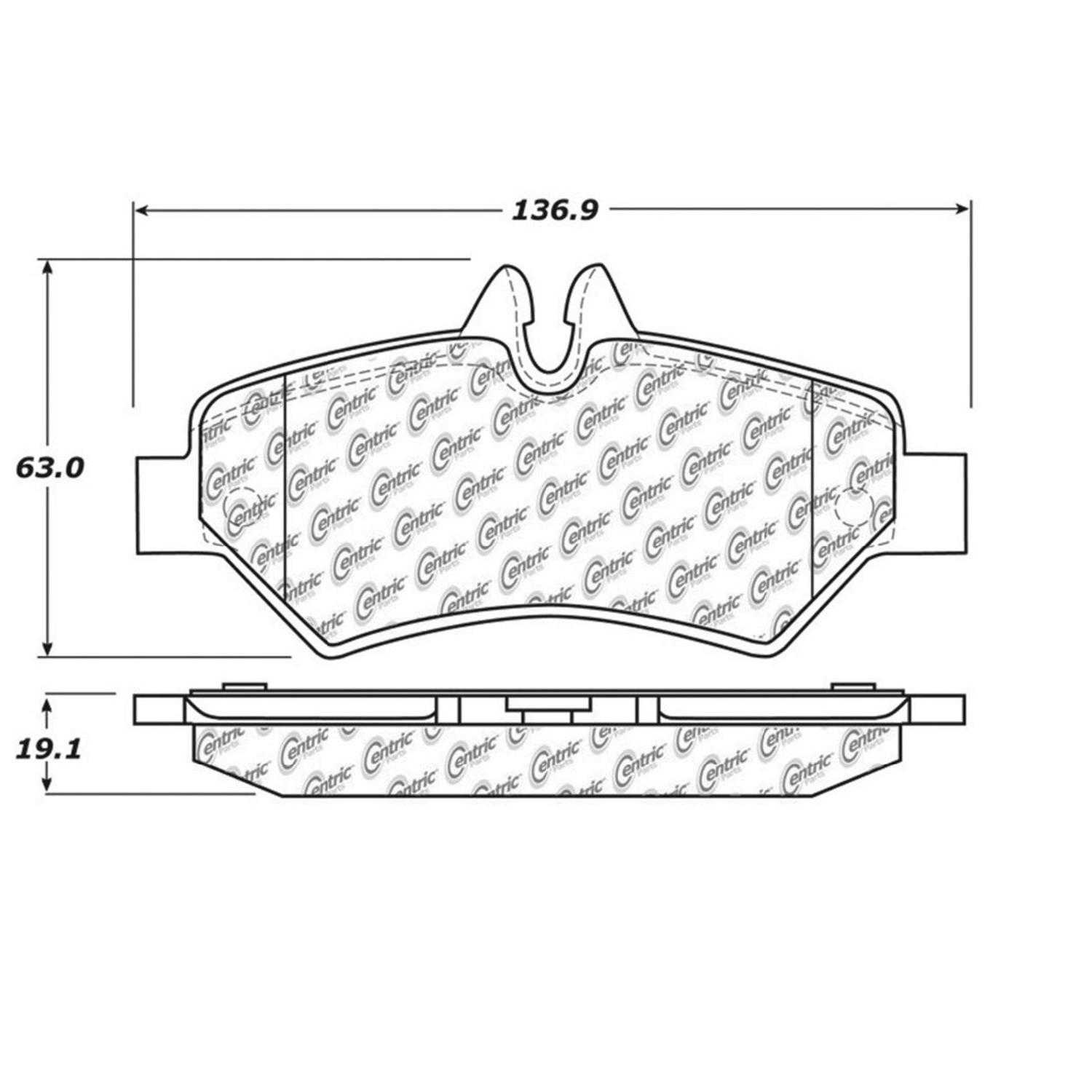 Centric Parts Brake Pads Front Rear For Dodge